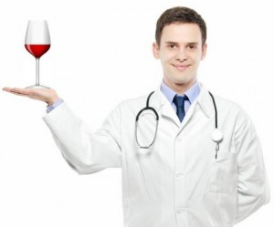 Doctor and wine